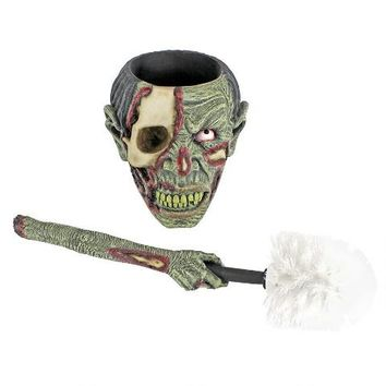 """Zombie Flush"" Toilet Bowl Brush - CL6676 - Design Toscano"