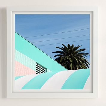 George Byrne Green & White #2 Art Print | Urban Outfitters