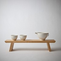 Mjölk : Wood pottery stand by Gilbert Garcia - Wood stand by Gilbert Garcia