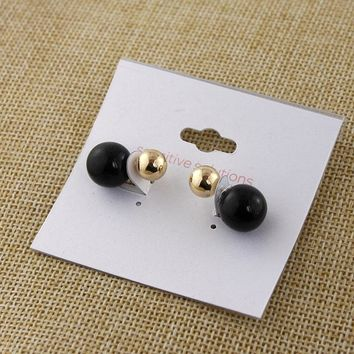 Special offer jewelry new simple small earrings black beads earrings small Korean ear ornaments fashion ball accessories KK
