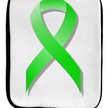 Lyme Disease Awareness Ribbon - Lime Green 9 x 11.5 Tablet  Sleeve by TooLoud