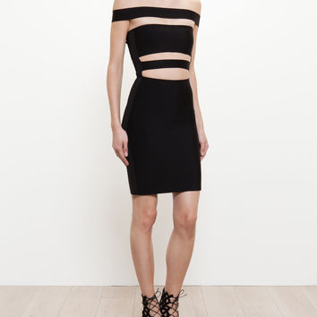 Stretch-Knit Cutout Mini Dress - BALMAIN