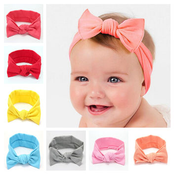 Newborn Bow Headband Cotton Tie Knot Kids Hair Band Turban Headband Hair Accessories Summer Style Headwear bandeau bebe 16pcs