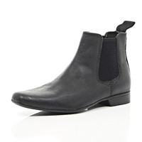 River Island Boys black smart chelsea boots