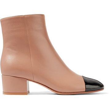 Gianvito Rossi - Patent and matte-leather ankle boots