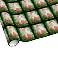 Funny Santa Christmas Wrapping Paper