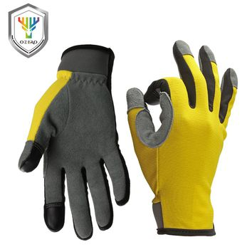OZERO Work Driver Gloves Touch Screen Gloves Sports Moto Outdoor Riding Running Gloves Hiking Hunting For Men Women 8009