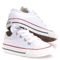 Converse Infants' Chuck Taylor All Star Lo Canvas Sneaker White 5 M US
