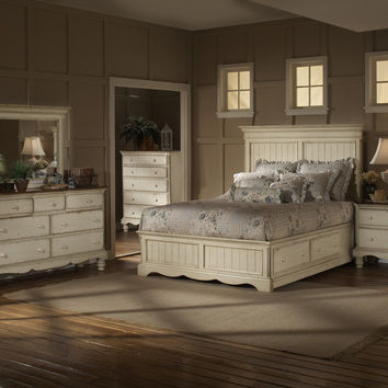 1172-wilshire-panel-storage-bed-king-rails-nightstand-dresser-and-mirror - Free Shipping!