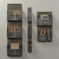 Industrial Metal Wall Organizer