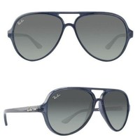 NEW Rayban Cats 5000 sunglasses RB4125 630371 59 Blue Grey Gradient 4125 gray