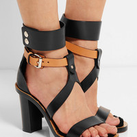 Isabel Marant - Jenyd shearling-lined leather sandals