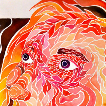 Fibonacci Spiral Self-Portrait (Trippy Colorful Psychedelic Visionary Spiritual Sacred Geometry Golden Spiral Watercolor Painting)