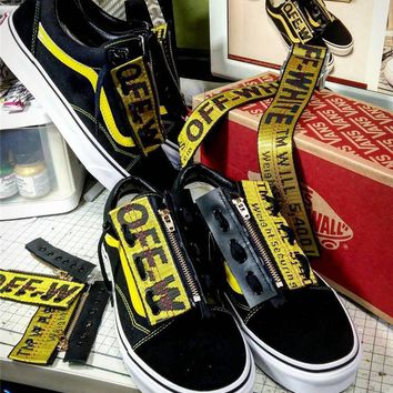 Off White X Vans Ribbon Zipper Limited Edition Shoes 35 44 | Best Deal Online