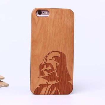 Star Wars Darth Vader Laser Engraved Real Wood Phone Cases