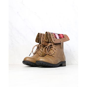 final sale - adjustable classic combat boot - taupe