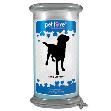 I love my Labrador! | Pet Love Candle®