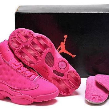 DCK7YE Air Jordan 13 Retro 136064-089 Pink Women Basketball Shoes