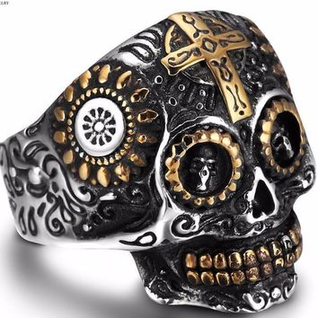 Cross My Skull Ring