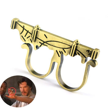 Doctor Strange Cosplay ring of time and space props Fly Sling Ring Fashion Accessories The Gate of Time and Space Copper Ring