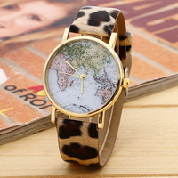 Fashion Retro Map Watch
