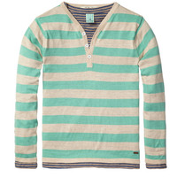 Scotch Shrunk 2 in 1 Grandad Pull with Inner Tee - Mint Stripe  - 1441-01.60502 - FINAL SALE
