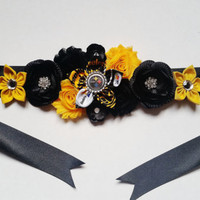 Maternity Sash, Pittsburgh Steelers Maternity Belt, Baby Shower Sash, Maternity Photo Shoot Prop, Football Baby Shower