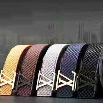 DCCK0 LV Plaid Woman Fashion Smooth Buckle Belt Leather Belt H-A-GFPDPF