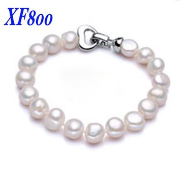 [XF800]Pearl Jewelry Baroque Pearl Bracelets NaturalFfreshwater Pearl Bracelets Trendy  For Women Fine Jewelry S109