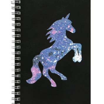 Glitter Galaxy Unicorn Notebook