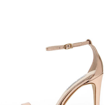4249ab1ea71 Steve Madden Stecy Rose Gold Ankle Strap from Lulu s