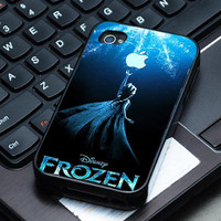 Hard Plastic Case - Frozen Disney Princess With Apple Logo - iPhone 4/4s, iPhone 5, iPhone 5s, iPhone 5c, Samsung S2, S3, S4