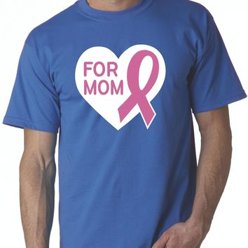 Breast Cancer Pink Ribbon Shirts - I Wear Pink For My Mom Graphic Tee