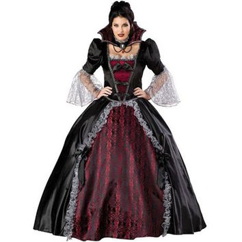 DCCKHY9 New high quality Black Queen dress Halloween Costumes for Women Sexy Vampire Witch Cosplay Party Costume Carnival Of Princess