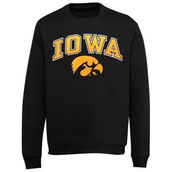 Iowa Hawkeyes Midsize Classic Crew Sweatshirt -  Black