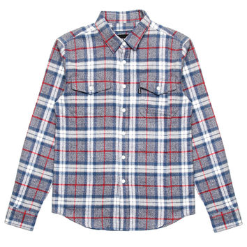 HUF - Heavy Weight Flannel L/S Button-Up Shirt (Grey)