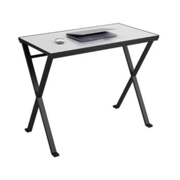Ameriwood Prism Tempered-Glass Desk with Interchangeable Color Insert Sheets