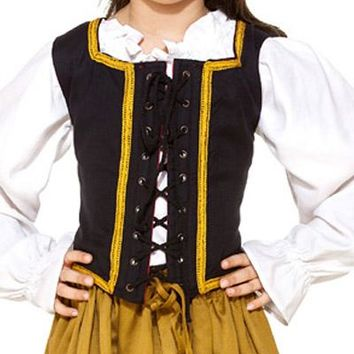 Steampunk Princess Bodice Childrens Girls Top Lace-up