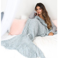 Mermaid Party to Be Adored Blanket fashion Grey