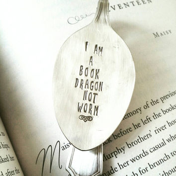 Bookmark- I Am a Book Dragon Not Worm, Gift for Book Lover, Gift for Reader