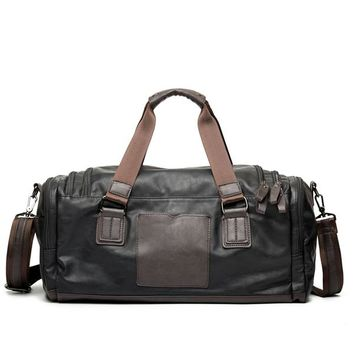 Sports gym bag Men's PU Leather  Gym Bag Fitness Sport Bags Duffel Tote Travel Shoulder Handbag KO_5_1