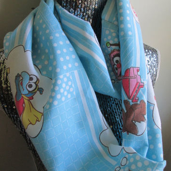 Vintage Baby Muppets Infinity Scarf