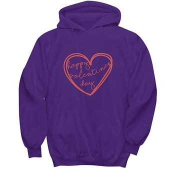 Happy Valentines Day Script Perfect Him and Her Gift Sweater Hoodie