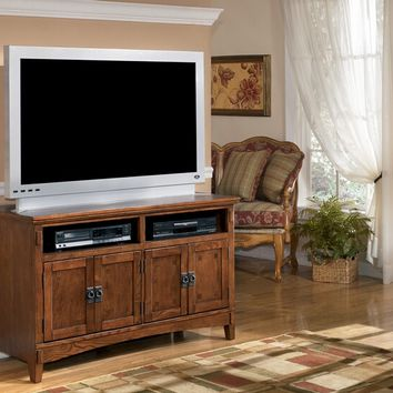 Ashley Furniture W319-28 Cross island ii collection casual style medium brown finish wood tv stand