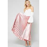 Metalic Maxi Skirt