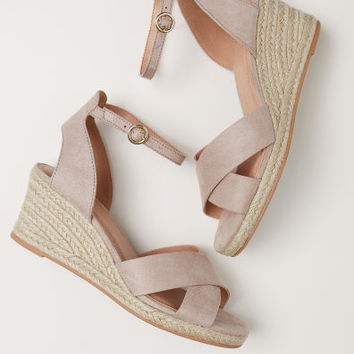 Wedge-heel sandals - Light mole - Ladies | H&M GB