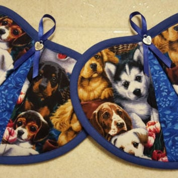 Dogs heart potholders