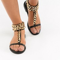 Truffle Collection Chain Flat Sandals at asos.com