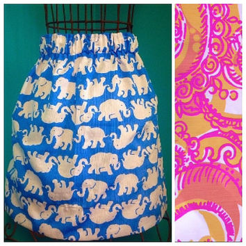 Custom Lilly Pulitzer Sea and Be Seen Skirt