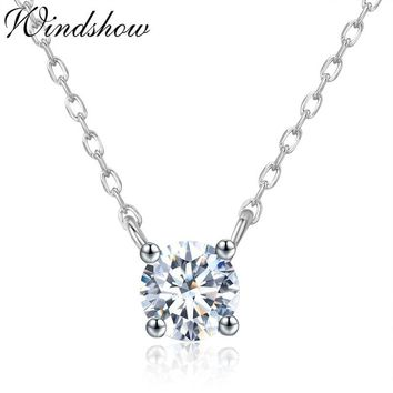Slim Tiny Cute Small Round AAA CZ Stones 925 Sterling Silver Cross Chain Choker Necklace Women Girls Friend Gift Jewelry Bijoux